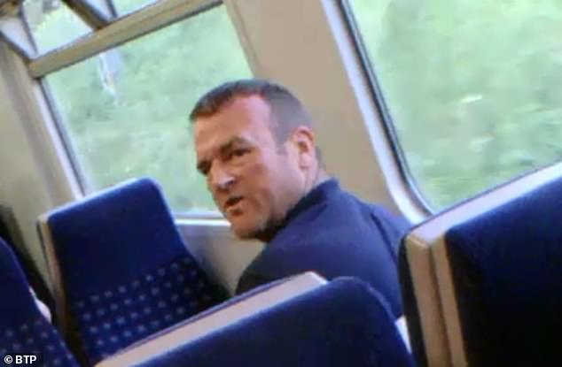 The man is said to have told a train conductor who confronted him: 'I can do what I want, he's my son'
