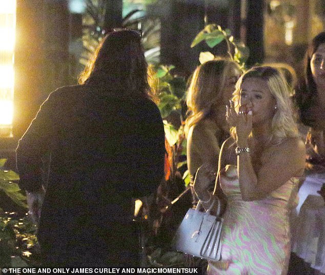 Oh my gosh: the TOWIE star, 32, had teary eyes for conversation and a tearful blonde beauty, who he had been seen flirting with earlier that night, was looking aside
