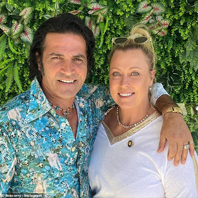 Strength: Lisa Curry has shared an intimate photo with husband Mark (both pictured) saying she 'couldn't get through each day without him' in a sweet tribute on Instagram on Sunday