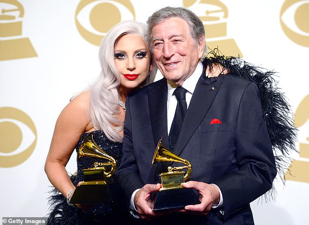 Special connection:Tony's wife Susan Benedetto, 54, revealed on CBS This Morning in February that Gaga was one of the people who they shared his diagnosis with before going public; seen in 2015