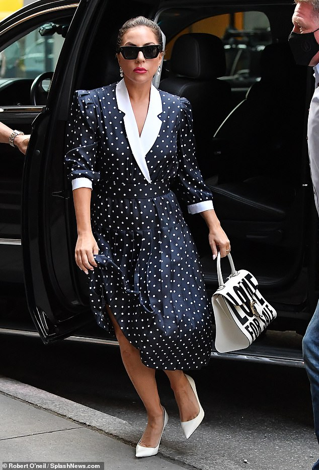 It's showtime:Gaga was also spotted later in the afternoon as she exited her SUV at the Radio City Music Hall
