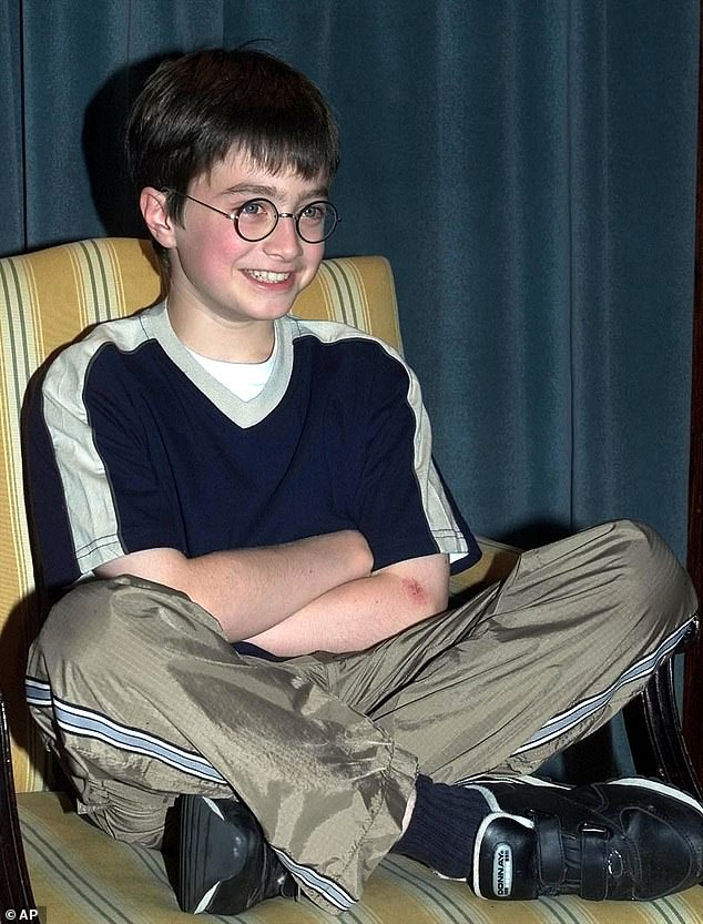 Child actor: The Harry Potter star rose to worldwide fame in an acclaimed film franchise at the age of 11 - and has forged a successful film career ever since;  photographed in 2000