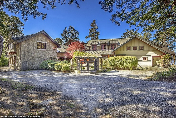 Impressive: The mansion is nested in thepicturesque Orcas Island, between hot spot cities Seattle and Vancouver