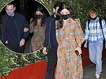 Courteney Cox looks chic in patterned dress as she enjoys dinner with Johnny McDaid and Ed Sheeran