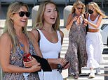 Kate Moss, 47, looks stylish in a maxi dress as she joins daughter Lila Grace, 18, in Ibiza