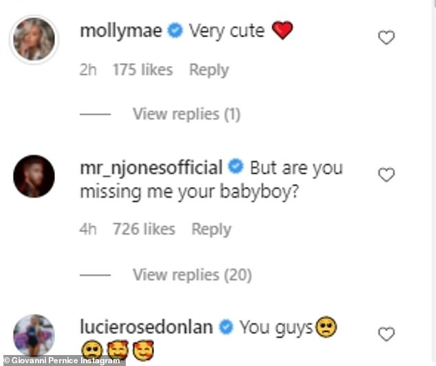Supportive:Maura's pals Molly-Mae Hague and Lucie Donlan, who also appeared on Love Island, sealed their approval for the stunning couple