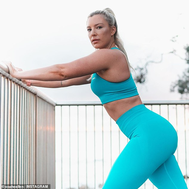 While exercise is vital for changing your body shape, diet is the biggest thing to make a difference, and Sophie (pictured) said you need to eat in a calorie surplus or maintenance