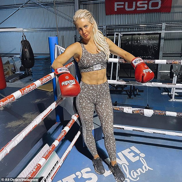 Total knockout! Ali's body-positive message comes after she shared a photo to Instagram last month of herself posing in a boxing ring