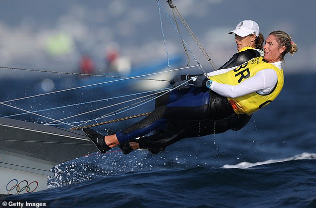 Charlotte Dobson and Saskia Tidey still have medal hopes in the women's 49er category