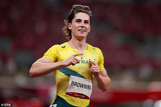 Rohan Browning shocked the world by winning his 100m heat on Saturday night