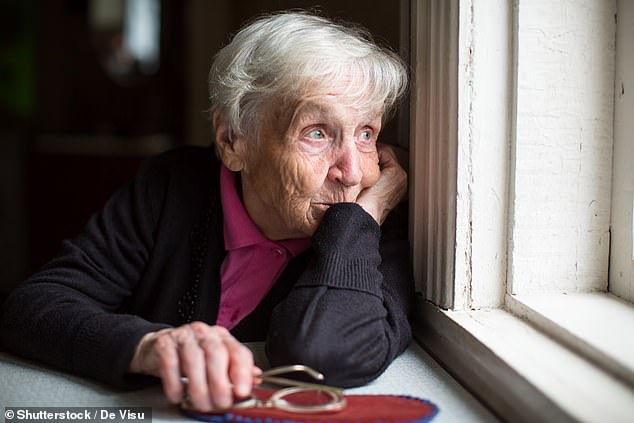 People over the age of 65 living in areas with more homes such as a large city were 17.4 per cent more likely to say they are struggling with loneliness (stock image)