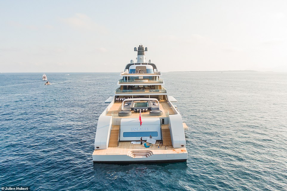 As well as a gym, sauna, Jacuzzi and at least one swimming pool come as standard on boats such as these and, if it's anything like the 530ft Eclipse, it will also have a beauty salon, complete with beautician and hairdresser