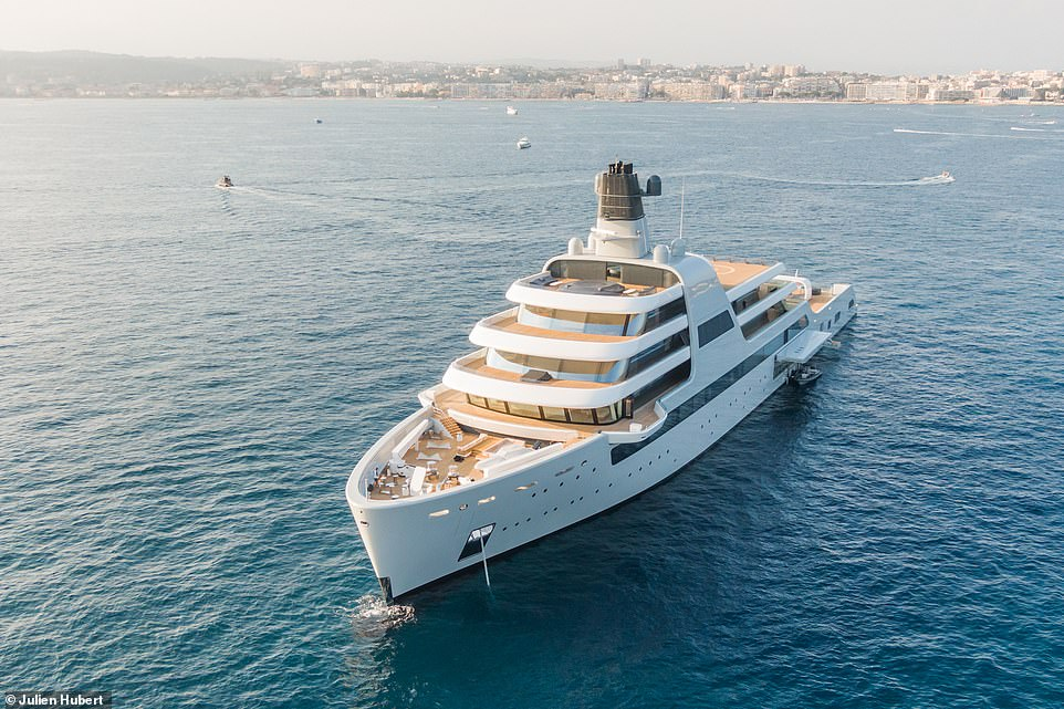 Abramovich, 54, himself is believed to be on his other, slightly longer than Solaris (pictured), £500m yacht Eclipse, off Croatia at the moment, but it's thought likely he'll want to try out his new toy before long, as it is arguably, the most technologically advanced private boat afloat