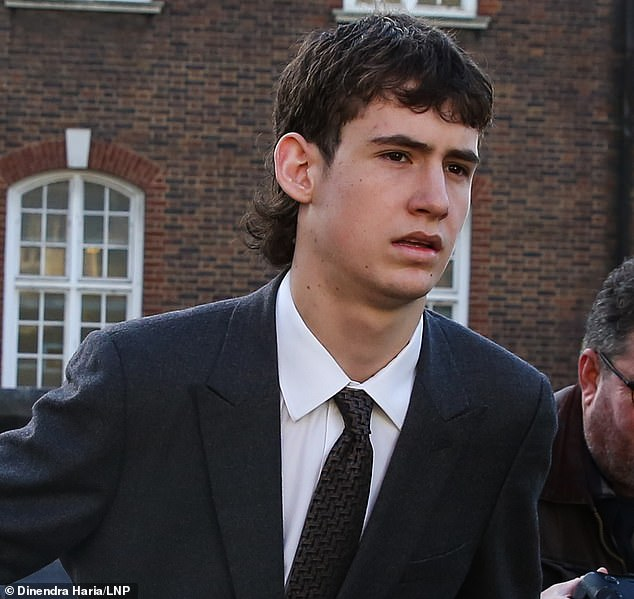 Charges: Gallagher, Starkey and IMG model Noah Ponte (pictured) are accused of fighting on a Tesco Express in Hampstead, north London on May 17, 2019