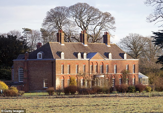 Joseph Melhado, 30, of Anmer, near King's Lynn, was sentenced to two years in prison for the burglary in Wiggenhall St Germans. Pictured:Prince William and Kate's country residence, Anmer Hall