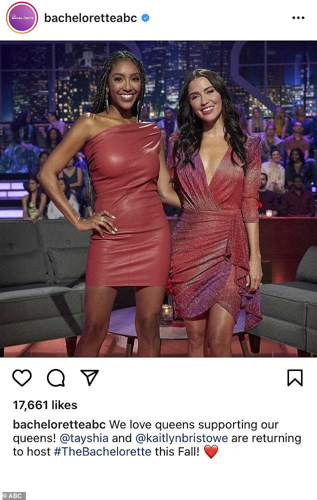 Official:Adams and Bristowe both did share the Bachelor Nation Instagram post on their Instagram stories, with Adams also sharing a headline from Variety
