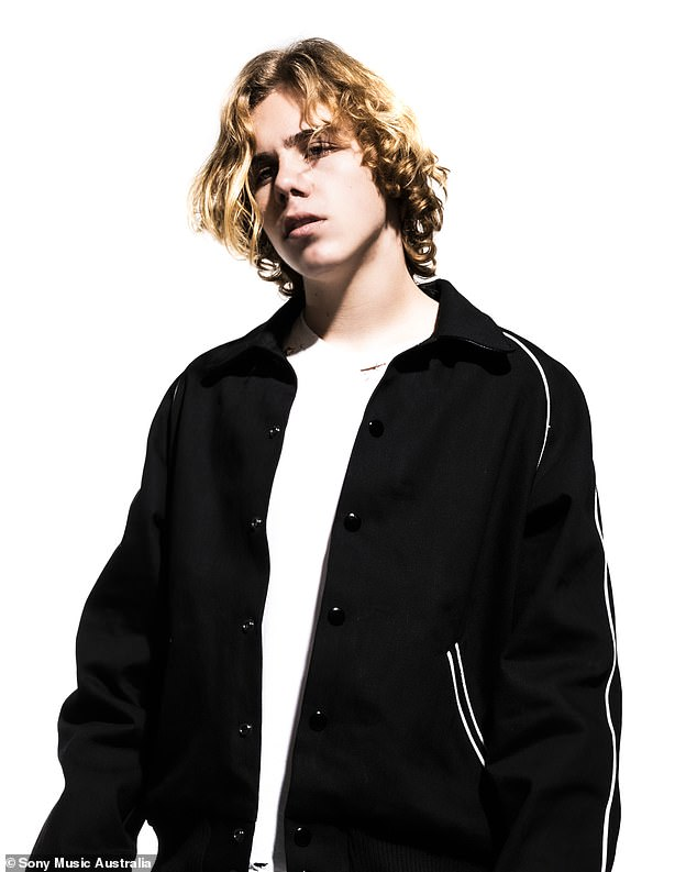 Success: Besides being the first Australian rapper to reach the Billboard top spot, Laroi is also the youngest music artist to reach number one in the charts this decade