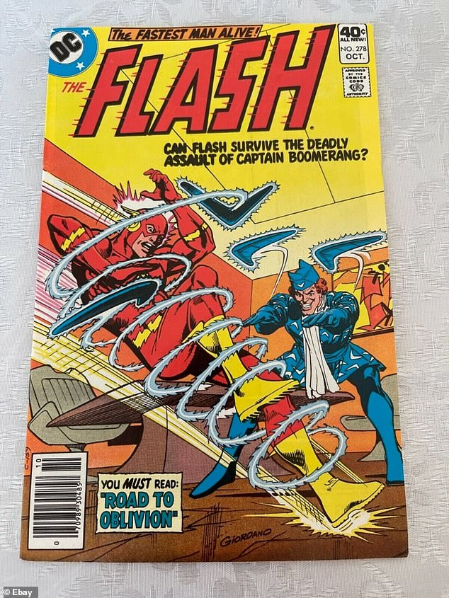 """Offensive: The actor said Boomerang's racism needs to be """"toned down"""" for films to avoid offending modern audiences.  Pictured: Captain Boomerang on the cover of an old comic"""