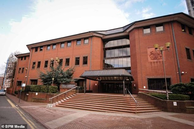 Birmingham Crown Court (pictured) had heard how Knight had been in a relationship with the victim, and that the pair regularly communicated via text
