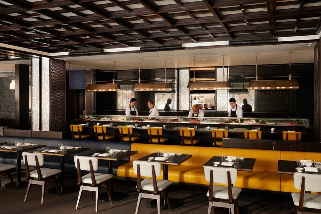 The Inspector says of Nobu's restaurant: 'It's outrageously expensive (expect to pay £100 a head with not much to drink) but the people-watching comes free'