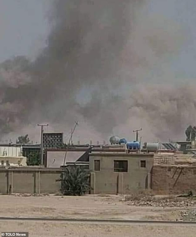 Lashkar Gah, the capital of Helmand province, has been under attack for five days with Taliban fighters capturing parts of the city centre (pictured)