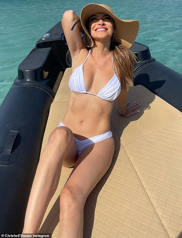 All good: Stause had the time of her life during her vacation along the coast of Italy this month