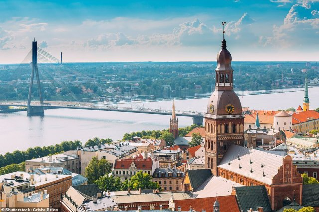 Latvia (pictured) is one of seven countries that have been added to the green list, meaning holidaymakers won't have to quarantine upon return