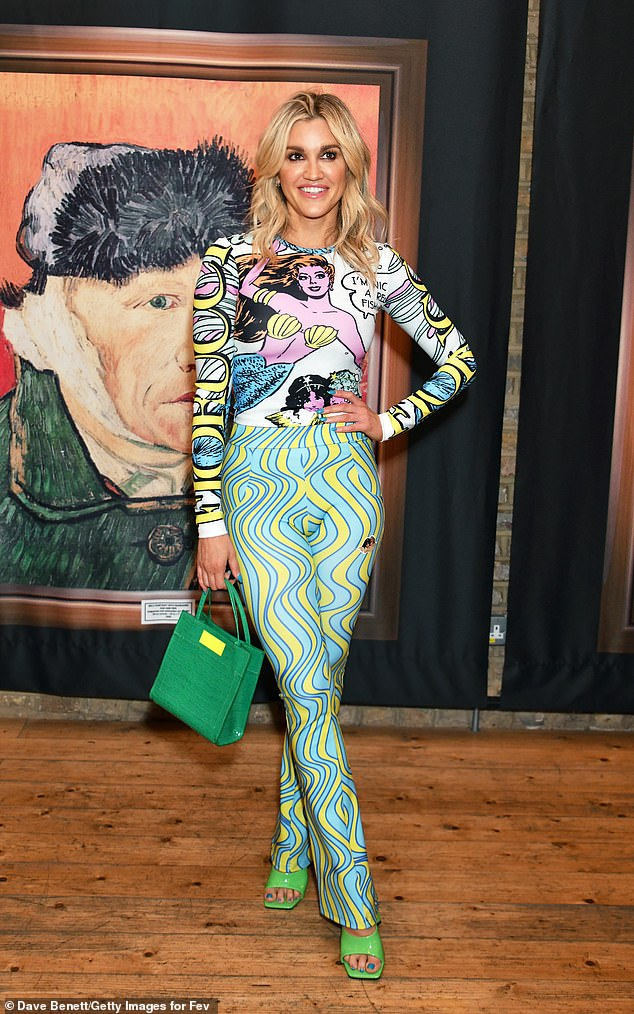 Ashley Roberts, 39, wore a Pop Art 'Princess of the Sea' top by Italian label Fiorucci at a Van Gough exhibition in London