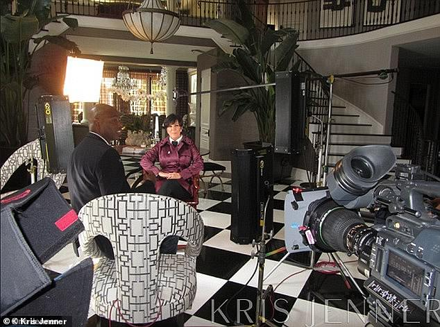 Throwback: The 65-year-old felt nostalgic for her 'old house' - the famous Hidden Hills mansion where the reality show has been filmed extensively in previous seasons