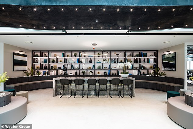 An assortment of lounges are provided at Weston Group HQ for meetings or simply chilling out, and a bar for after work drinks - something many of us have missed during lockdown