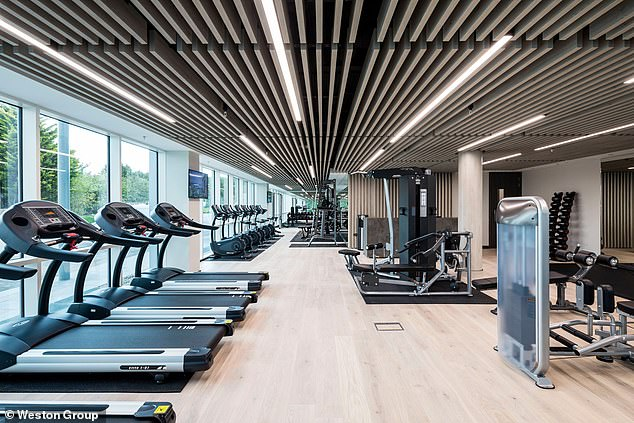 Housebuilding firm Weston Group has also invested £40million into a new state of the art complex. There is a well-equipped and mirrored gym with a dedicated personal instructor to help train staff members, freeweights, an array of machines and upmarket changing facilities