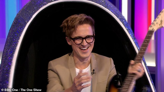 Excited: Tom was the first celebrity announced and said: 'I'm so pleased the news is out it's been so hard keeping it secret'