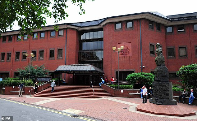 Judge Roderick Henderson, sitting at Birmingham Crown Court (pictured), jailed Morgan for 22 months for his latest crimes