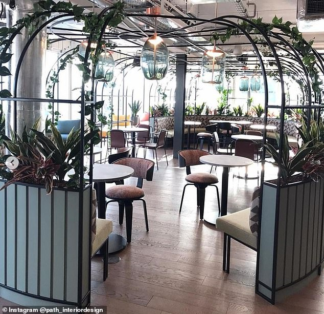 The PwC Botanical Gardens-themed client hospitality area isdesigned to complement the stunning views out onto Belfast cityscape