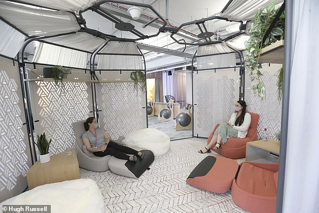 Accountancy firm PwC has recently opened a new office space in Belfast, with wellness a key consideration for employees.It offers a new wellbeing space (pictured)