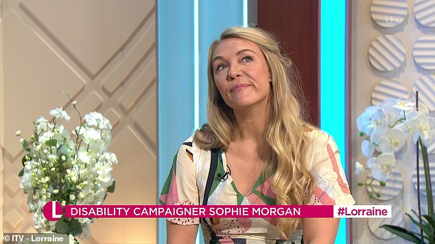 Sophie, whose successful television career began in 2009, says that while it was difficult adapting to her injury, it has become 'part of who she is'