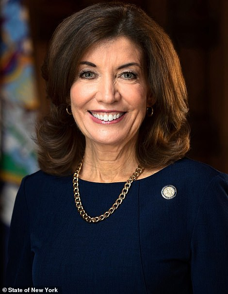 Lieutenant Gov. Kathy Hochul who will replace Cuomo if he resigns or is impeached, which is becoming increasingly likely. The 62-year-old mother-of-two is an Irish immigrants' granddaughter who started her political career upstate with more conservative policies than Cuomo's