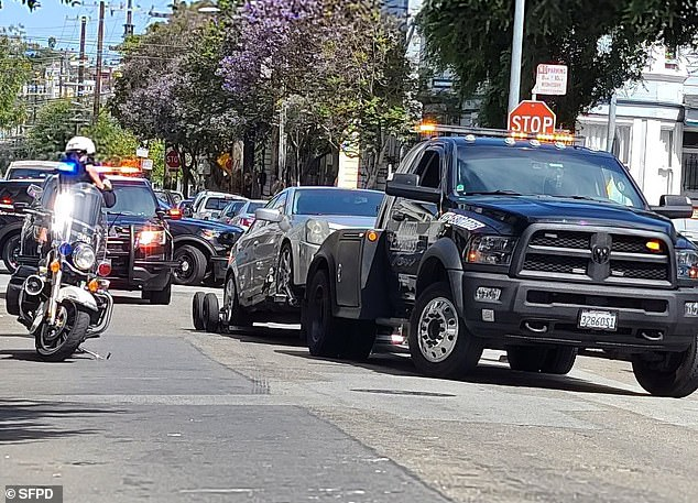 Police announced that they have since impounded the Cadillac involved, andreleased an image of the car being towed away