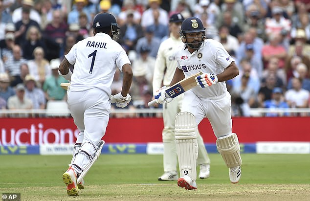 KL Rahul (L) and Rohit Sharma were calmness personified as India's openers on Thursday