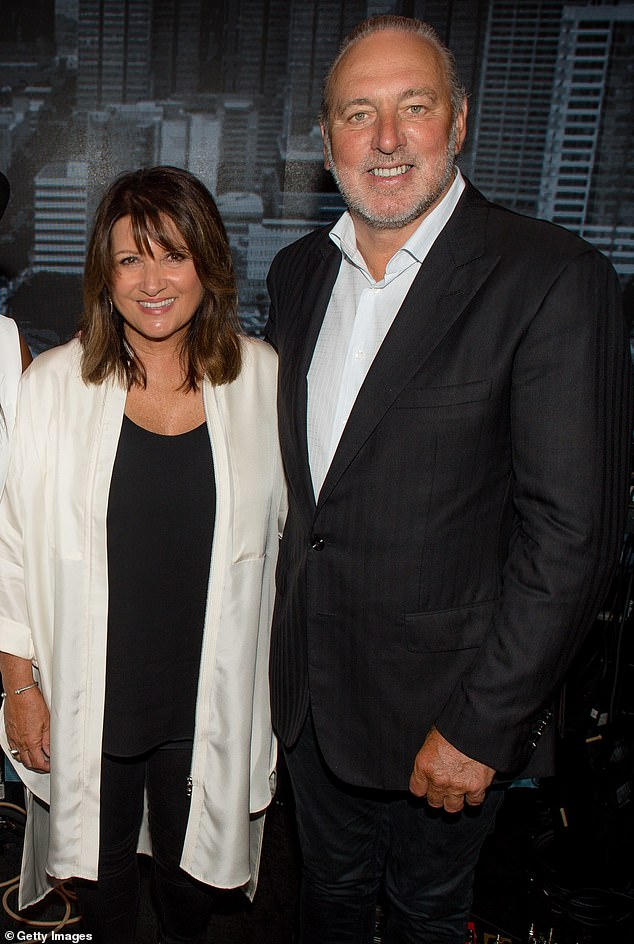 Hillsong founder Brian Houston (pictured right with his wife) announced he is standing down from the church's board on Sunday night, two months after being charged by Australian police with concealing his late father's sex offenses