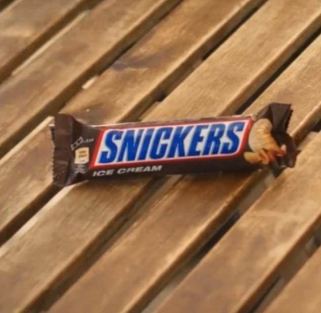The advertisement was for a Snickers ice cream bar