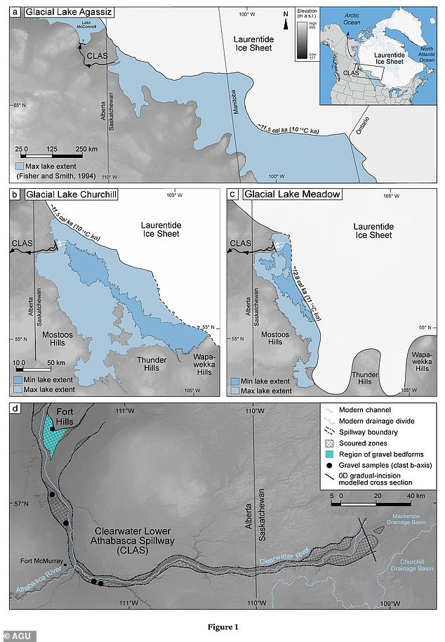 The ancient lake was formed after the Laurentide Ice Shield started to melt around 16,000 years ago, creating a dam that prevented meltwaters from entering the Hudson Bay
