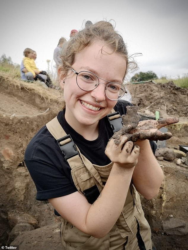 Dig Ventures is working with Cardiff University students on the dig, with some of them having unearthed items such as a medieval ampulla (pictured), used to hold holy water