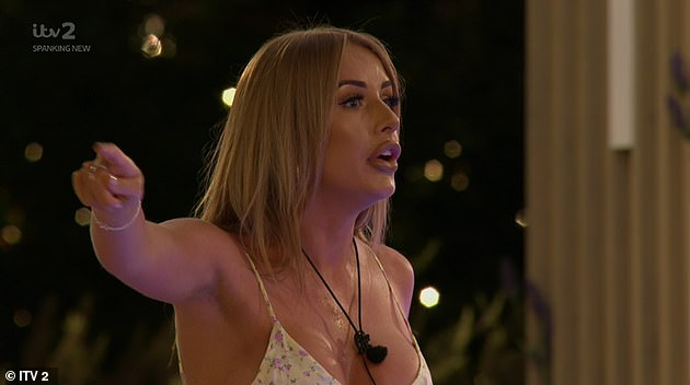 Heated: During Friday's episode, a heated Faye ended her romance with Teddy after the 'sexual attraction' comments he made to former islander Clarisse were shown on screen during the Movie Challenge