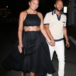 Chrissy Teigen sports a chic cut out dress while strolling with John Legend on romantic date night💥👩💥💥👩💥