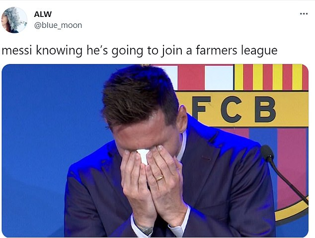 Fans on social media have been joking about Lionel Messi joining an uncompetitive Ligue 1