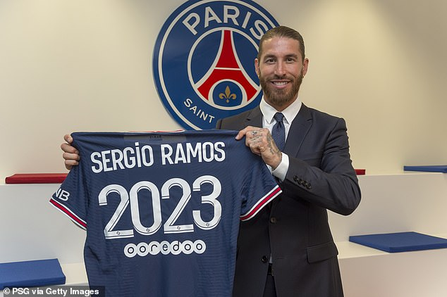 The Argentine is also due to become teammates with old Real Madrid nemesis Sergio Ramos