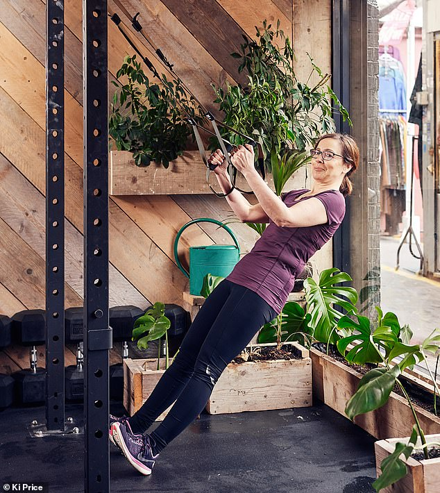 Michal told Anna (pictured) most of Terra Hale's clients are people who use the gym because they live nearby and are aged between 35 and 55