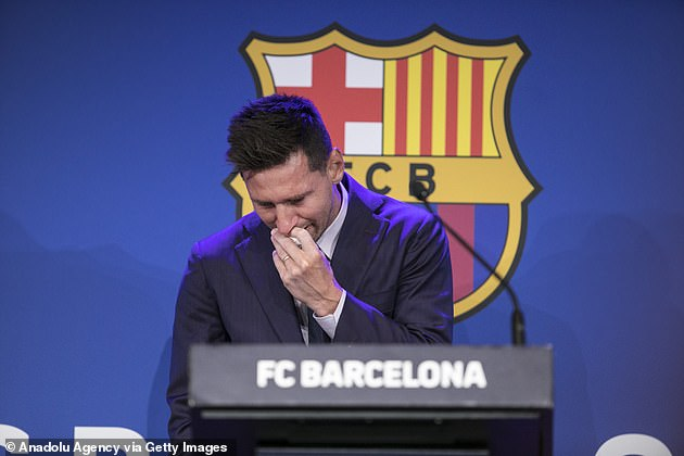 Messi broke down in tears before he even got to his goodbye speech at the Nou Camp
