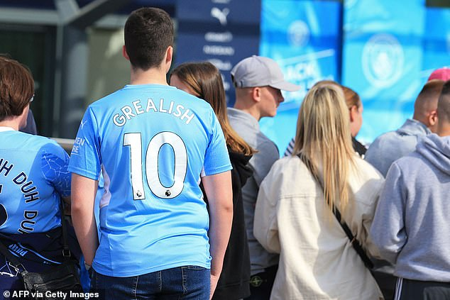 City fans queued up to get a glimpse of their new man after he made a record £100m transfer